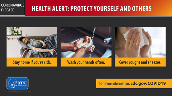 Coronavirus protection tips from CDC