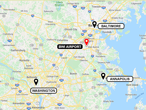 It's a convenient drive from Baltimore, Annapolis and Washington, DC.